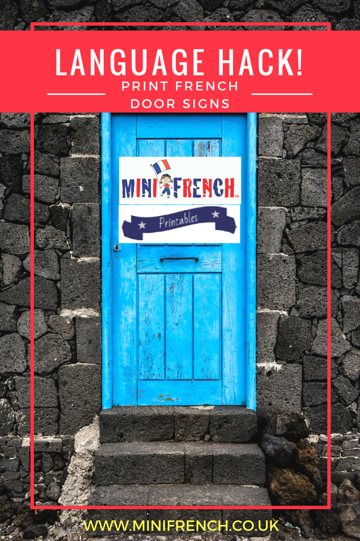 graphic relating to Free Printable Door Signs named Totally free printable: Doorway signs and symptoms! - Mini French