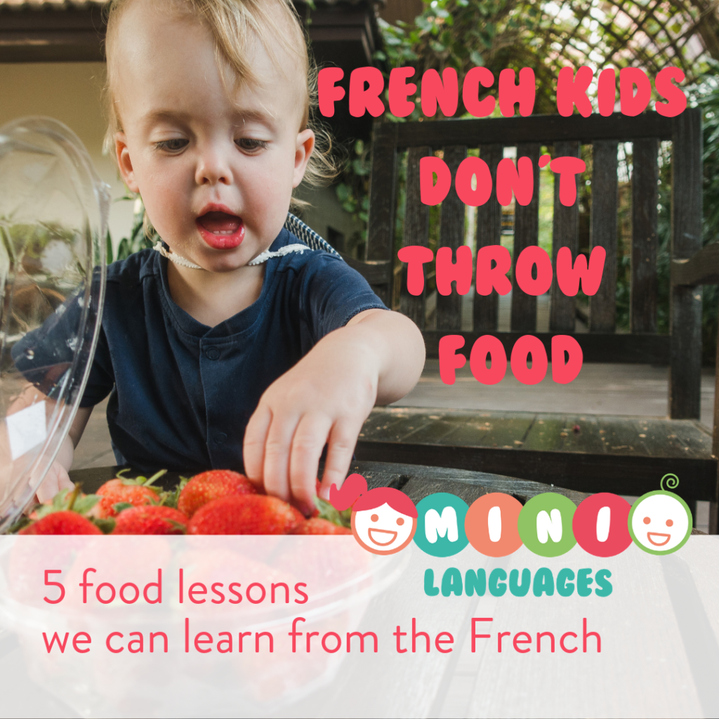 Food Habits French kids don't throw food